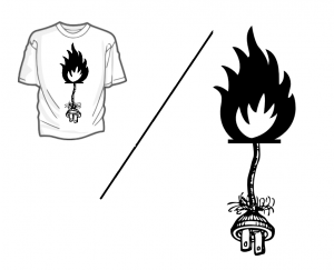 t-shirt_front_weiss_FLAMING-POWER